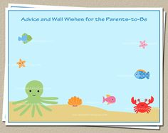 Advice for Mom and Dad Cards Under the Sea by TheInviteLadyShop, $15.00