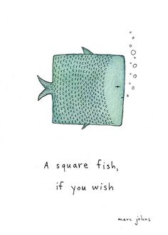 Marc Johns: square fish tattoo - Erika from Indiana