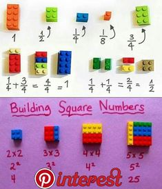 Teach maths with lego Fraction Games For Kids, Fraction Activities, Math For Kids, Stem Activities, Math Resources, Teaching Multiplication, Math Fractions, Teaching Math, Lego Math