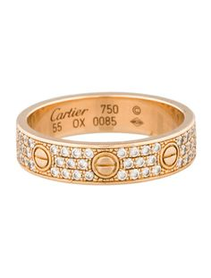 Cartier Pave Mini Love Ring Realrealgifts Therealreal
