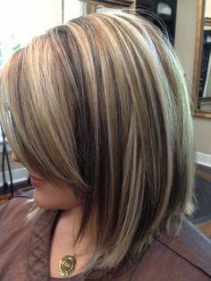"""blonde highlights on dark hair"