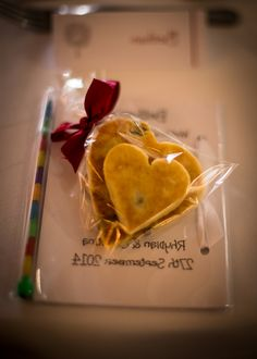 Heart shaped welsh cake wedding favours! Really cute. Written With Light Photography Ltd.