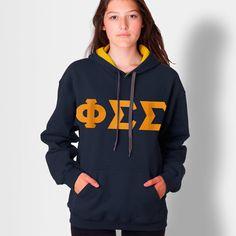 Phi Sigma Sigma Contrast Hoody #Greek #Sorority #Clothing #PhiSig #PhiSigmaSigma