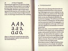 ENGLAND: Eric Gill, an Essay on TYpography, 1931.