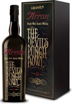 The Arran Devil's Punch Bowl Chapter III The Fiendish Finale. The third release in Arran's Devil's Punch Bowl series, this #scotch #whisky was named Highlands/Islands Whisky of the Year by Whisky Advocate. | @Caskers