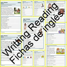 Fichas de inglés Segundo Primaria: Reading-Writting