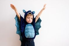 Blue Dragon Costume Photo Prop, Party Fairy Tale Dragon Costume, Halloween Costume with Wings