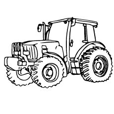 John Deere 460 Dump Truck Construction Coloring Page You