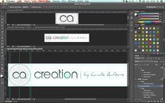 Aperçu du nouveau logo de ca-creation.com avant la mise à jour du site.