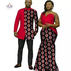 African couple Cotton clothing African ethnic wax printing Skirt and Men's S… – 2019 - Cotton Diy African Wedding Attire, African Attire For Men, African Wear, African Fashion Ankara, Latest African Fashion Dresses, African Print Fashion, African Dresses For Women, African Print Dresses, Party Dresses For Women