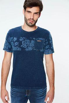 Knit-T-Shirt-with-Print-Front-- Knitting, T Shirt, Knitted T Shirt, Block Prints, Tee Shirt, Tricot, Stricken, Knitwear, Crocheting