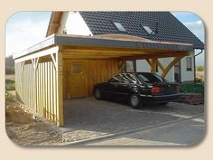 Garage mit carport flachdach  car port | Carport Flachdach Bauplan auf holzon.at | Carport ...