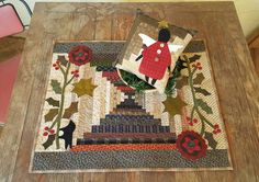 Cheri Payne was just in the shop dropping off her NEW pattern - Log Cabin Christmas - and she also left us with her original quilt of Log Cabin Christmas to display :) Another wonderful reason we should see YOU at the shop!