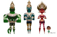 Artes do curta Sanjay's Super Team, da Pixar, por Chris Sasaki | THECAB - The Concept Art Blog