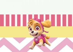 Inspire sua Festa ®   Blog Festa e Maternidade Imprimibles Paw Patrol, Fictional Characters, Paw Patrol Skye, Party Kit, 3 Year Olds, Fantasy Characters