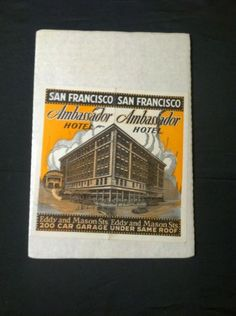 Ambassador-Hotel-San-Francisco-California-Vintage-ORIGINAL-PRINT-AD-Estate-Find
