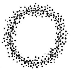 wreath images black and white Silhouette Cameo Projects, Silhouette Design, Embroidery Patterns, Hand Embroidery, Wreath Drawing, Berry Wreath, Penny Black, Digi Stamps, Zentangle