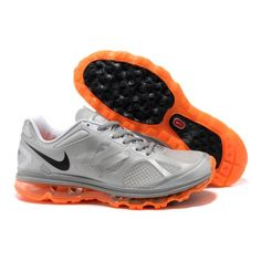 finest selection ffa8a 53ac2 Affordable Nike Air Max 2012 Breathable Shoes Silver Orange