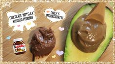 Chocolate Nutella Avocado Pudding! Only 5 Ingredients! Made Healthy!
