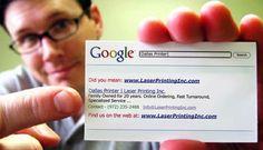 Google Business Card - Fab Idea!