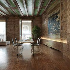 Altbauwohnung neu umgebaut – tolle Materialien und eine aussergewöhnliche Raumaufteilung | stylondo.com - die Nr. 1 für Ihr Zuhause - Hausbau, Einrichten, Architektur und Interior Design