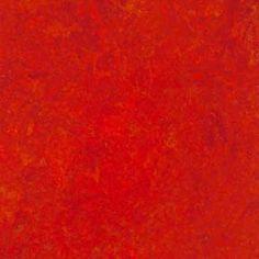 Marmoleum- color 3131 Scarlet. For the floor