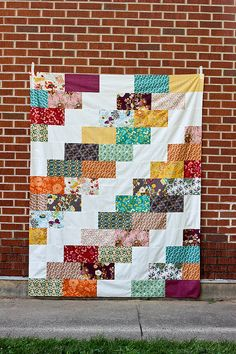 Indie Braid Quilt Top by Jeni Baker, via Flickr  (@Lisa Calle, for those big pieces we've been talking about!)