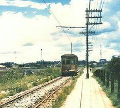 1957 - O bonde na linha que seguia para Santo Amaro.