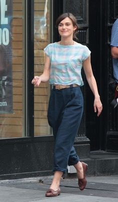 Keira Knightley in movie set  Can a Song Save Your Life?