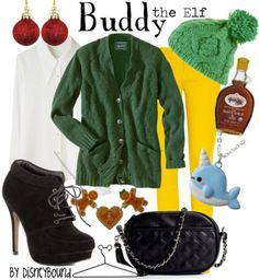 "i have no interest in this outfit, but i love ""Elf""!!! ""Buddy, the Elf, what's your favorite color?"""