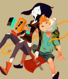 Marceline, Finn, & Jake ~ Schmow-zow!