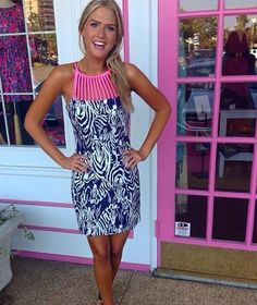 Lilly Pulitzer Terry Shift Dress via Pink Door Memphis