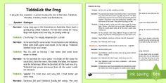Tiddalick the Frog Play Script - Australian Aboriginal Dreamtime Stories, tiddalick the frog play script, play script, drama, acting,
