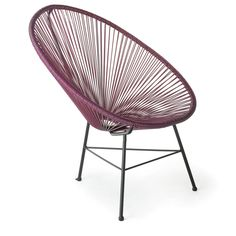 Design Tree Home Acapulco Purple Lounge Chair (China) - Overstock™ Shopping - The Best Prices on Chairs & Recliners