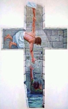 """Isaiah 43:11 """"I, even I, am the LORD, And there is no savior besides Me. In the bible text God says he is the lord and there is no other savior besides him. Which in this picture shows exactly what he says in Isaiah 43:11. It illustrates a boy that is in need of help, the Lord gives him a hand and tries to helps him out of the water, preventing him from drowning. When i am drowning, weather I'm literally drowning or in need of saving I know he will be there to give me a hand and save me."""