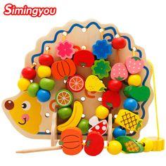 Simingyou Giáo Dục Học Tập Đồ Chơi Bằng Gỗ 82 Cái Hedgehog Hạt Trái Cây Montessori Oyuncak Giáo Dục Đồ Chơi Cho Trẻ Em MZ0501051