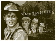 "Alternative movie poster design for Robert Redford's beautiful adaptation of Norman Maclean's ""A River Runs Through It"". #FilmDooCreativity"