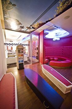 """The """"Coughing Room"""" (smokers room) in the Fire & Ice Hotel in Cape Town"""