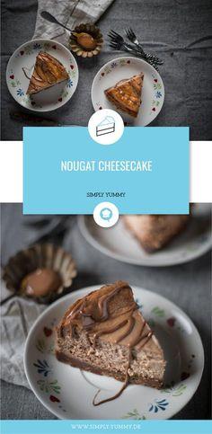 Nougat in Kombination mit Cheesecake. Klingt traumhaft? Ist es auch! #nougat #cheesecake #yummy