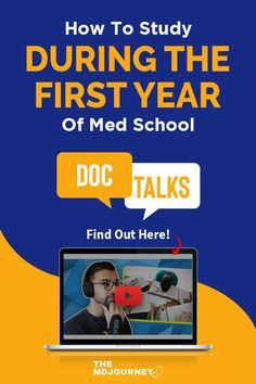 Want working study strategies for your first year in med school? Tune in to this Doc Talks episode! School Tips, School Hacks, Study Techniques, Med Student, Stress Less, Med School, First Year, Medical School, How To Become