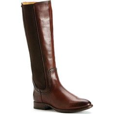 Frye Lindsay Gore Tall - Redwood Smooth Full Grain Leather with FREE Shipping & Returns. A stylish hand burnished, brushed off riding boot. Chelsea goring panels