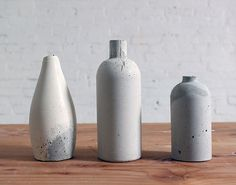 #DIY Bottles to Make Chic Concrete Vases
