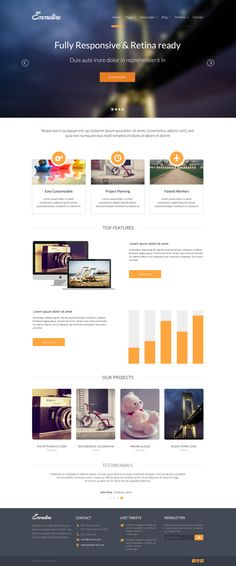 Emmeline - Free Multipurpose Website PSD Template