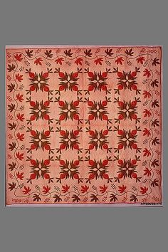 Quilt, Pineapple pattern Maker: Ann Downing Hegeman Date: ca. 1865 Geography: Mid-Atlantic, Glen Head, New York, United States Culture: American Medium: Cotton Dimensions: 93 x 91 in. (236.2 x 231.1 cm) Classification: Textiles