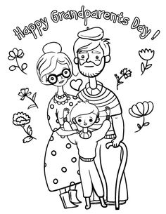 printable grandparents day coloring page free pdf download at httpcoloringcafe - Grandparentscom Coloring Pages