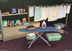 Laundry Decor Set at Dara Sims via Sims 4 Updates
