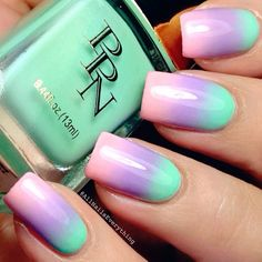 Pastels Trio Nail-Art by 'allnailseverything' via Instagram media from ink361.com #nails #nailart<3<3<3
