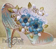 Heartfelt Creations | Blue Shoe Congratulations