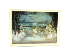 Swan Lake by Carlotta Edwards  1950s by HobartCollectables on Etsy, $54.45