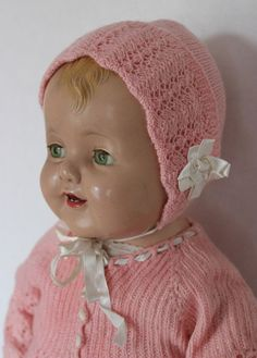 """26"""" Vintage Antique 1930's Effanbee Composition Lovums Baby Doll in Vintage Baby Clothes"""